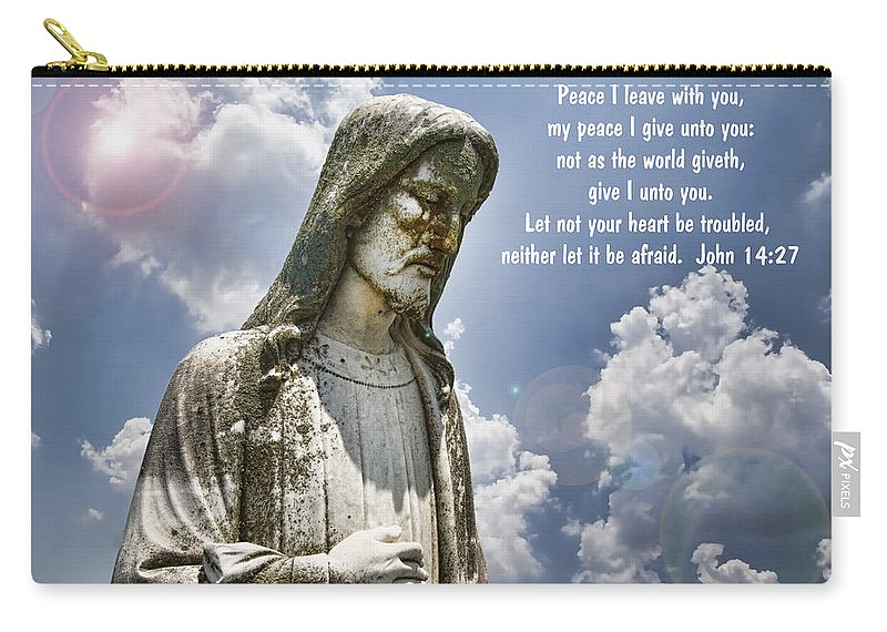 Peace Carry-all Pouch featuring the photograph Peace I Leave With You by Kathy Clark
