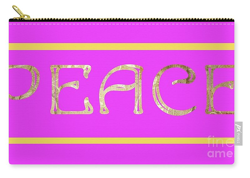 Peace Carry-all Pouch featuring the digital art Peace by Mariola Bitner