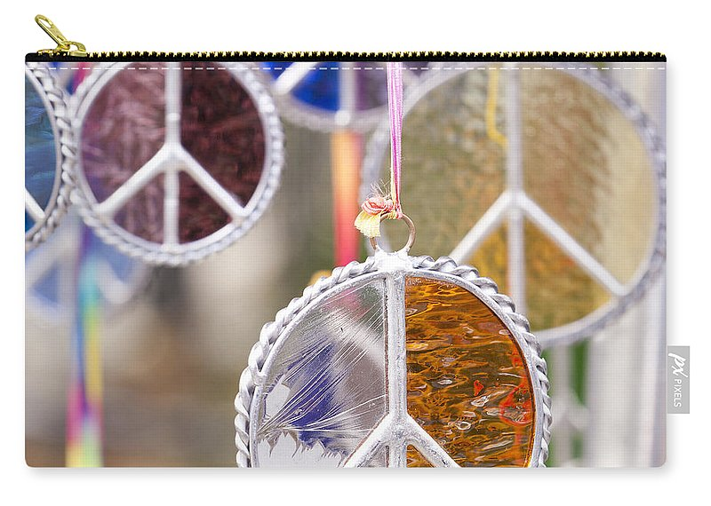 Peace Medal Carry-all Pouch featuring the photograph Peace Medals by B Christopher
