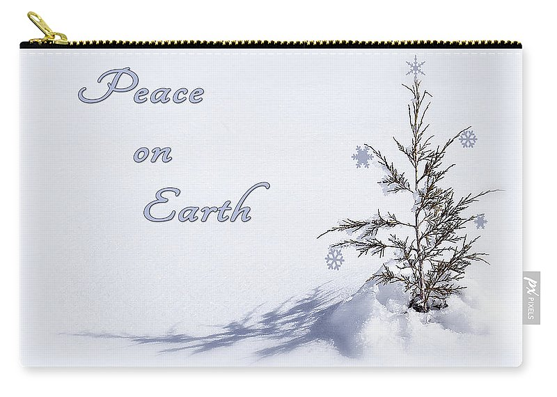 Christmas Card Carry-all Pouch featuring the photograph Peace On Earth 2 by Priscilla Burgers