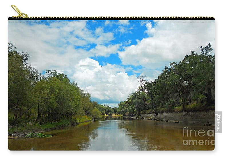 River Carry-all Pouch featuring the photograph Peace River 4 by Nancy L Marshall