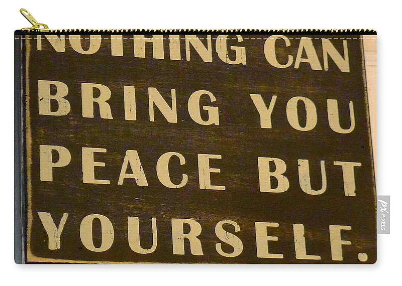 Peace Carry-all Pouch featuring the photograph Peace Within by Denise Mazzocco