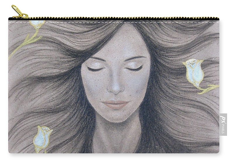 Peaceful Carry-all Pouch featuring the painting Peaceful by Lynet McDonald