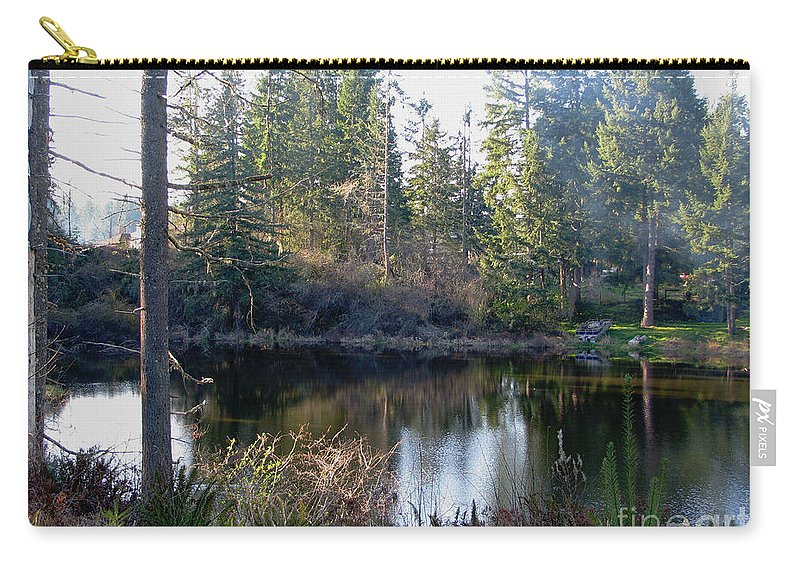 Pond Carry-all Pouch featuring the photograph Peaceful Pond by Rory Sagner