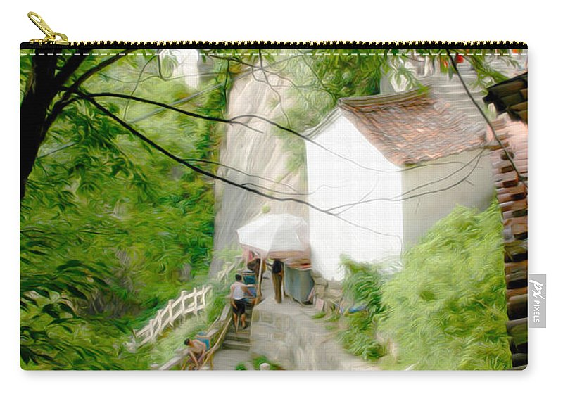 Peaceful Spot In China Carry-all Pouch featuring the photograph Peaceful Spot In China by Tracy Winter