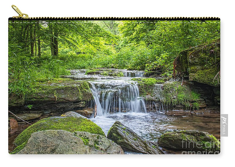 Peaceful Stream Carry-all Pouch featuring the photograph Peaceful Stream by Michael Ver Sprill