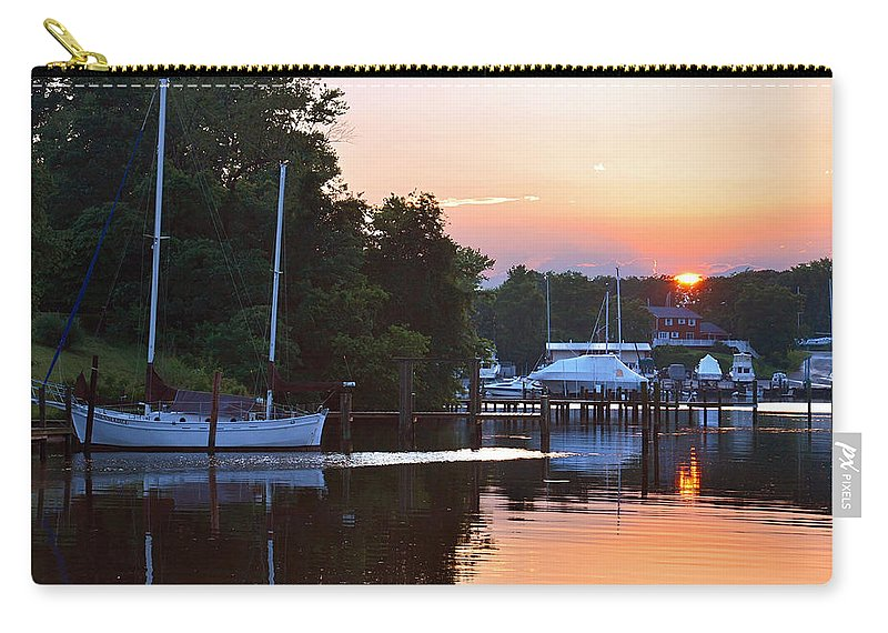 2d Carry-all Pouch featuring the photograph Peaceful Sunset by Brian Wallace