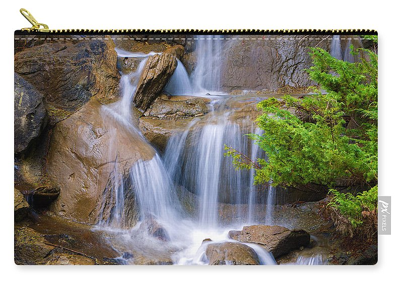 Waterfall Carry-all Pouch featuring the photograph Peaceful Waterfall by Jordan Blackstone