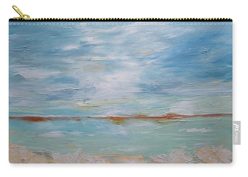 Ocean Carry-all Pouch featuring the painting Peacefulness by Graciela Castro