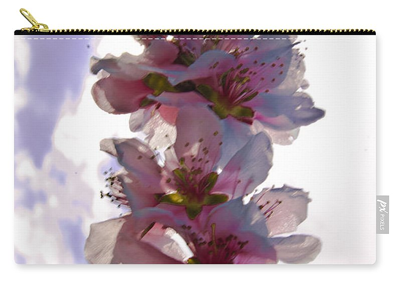 Peach Carry-all Pouch featuring the photograph Peach Blossom by Scott Hervieux