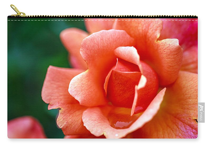 Bumble Bee Carry-all Pouch featuring the photograph Peach Blossom by Sennie Pierson
