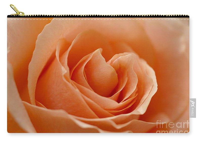 Peach Carry-all Pouch featuring the photograph Peach by Carol Lynch