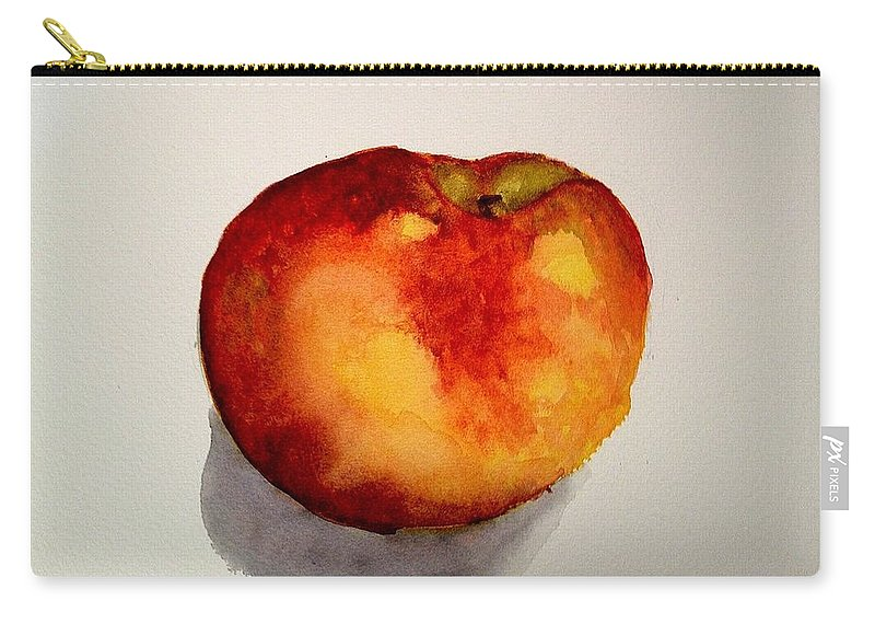 Peach Carry-all Pouch featuring the painting Peach by Nicole Curreri
