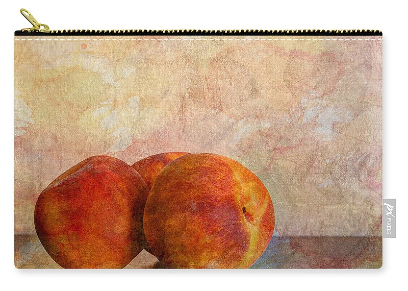 Agriculture Carry-all Pouch featuring the photograph Peach Trio by Heidi Smith