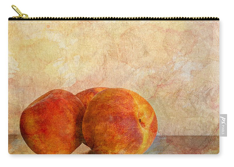 Agriculture Carry-all Pouch featuring the photograph Peach Trio II by Heidi Smith