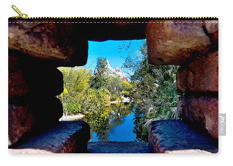 Everest Carry-all Pouch featuring the photograph Peakin In On Everest by Greg Fortier