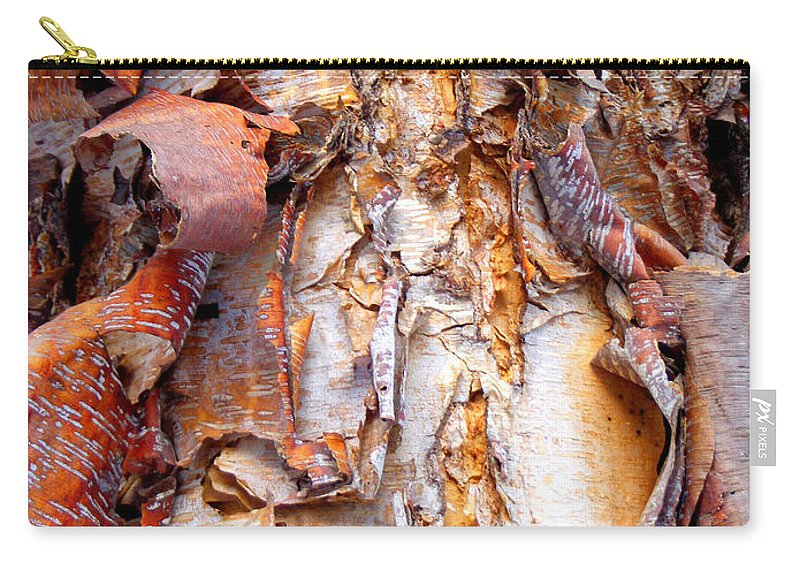 Plants Carry-all Pouch featuring the photograph Pealing Bark Upclose by Duane McCullough