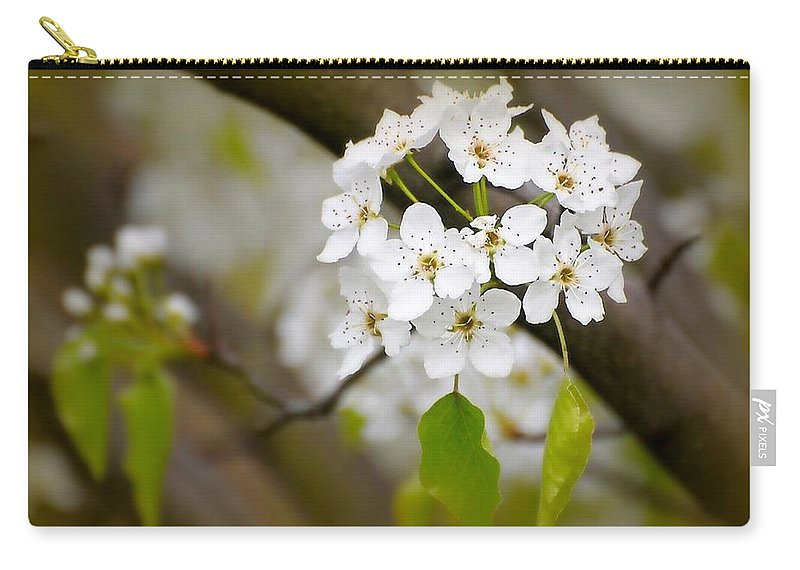 Flowers Carry-all Pouch featuring the photograph Pear Blossoms by Diana Angstadt