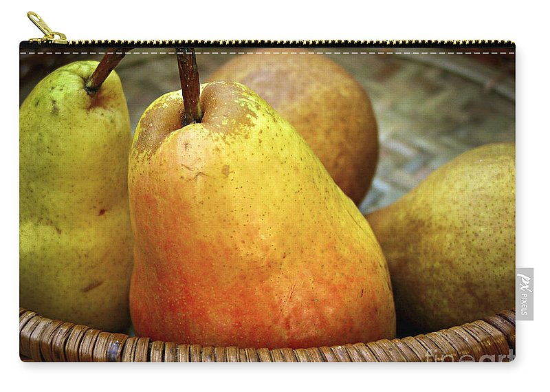 Autumn Carry-all Pouch featuring the photograph Pears In A Basket by Elena Elisseeva
