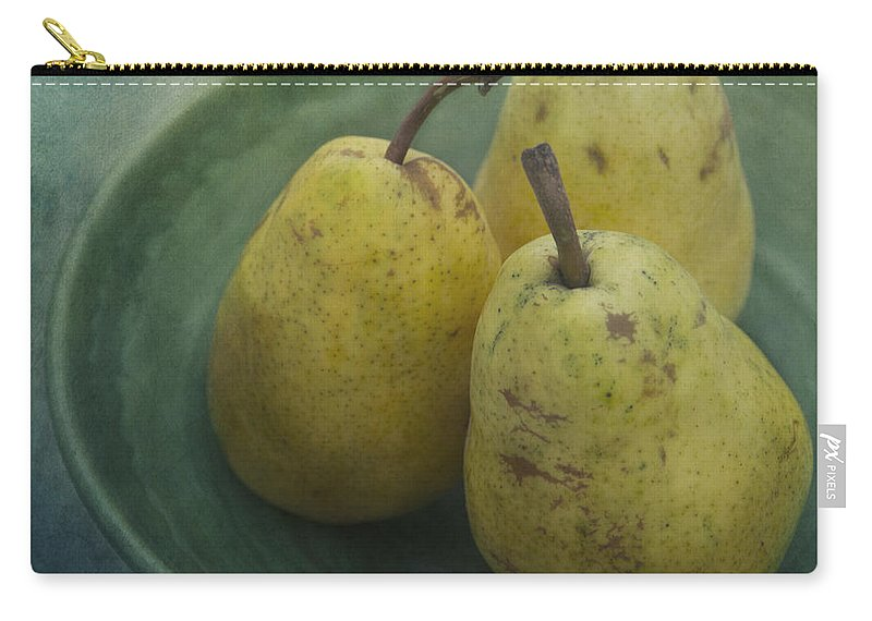 Pear Carry-all Pouch featuring the photograph Pears In A Square by Priska Wettstein