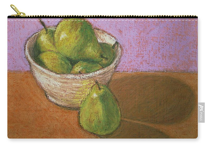 Pears Carry-all Pouch featuring the painting Pears In Bowl by Marna Edwards Flavell