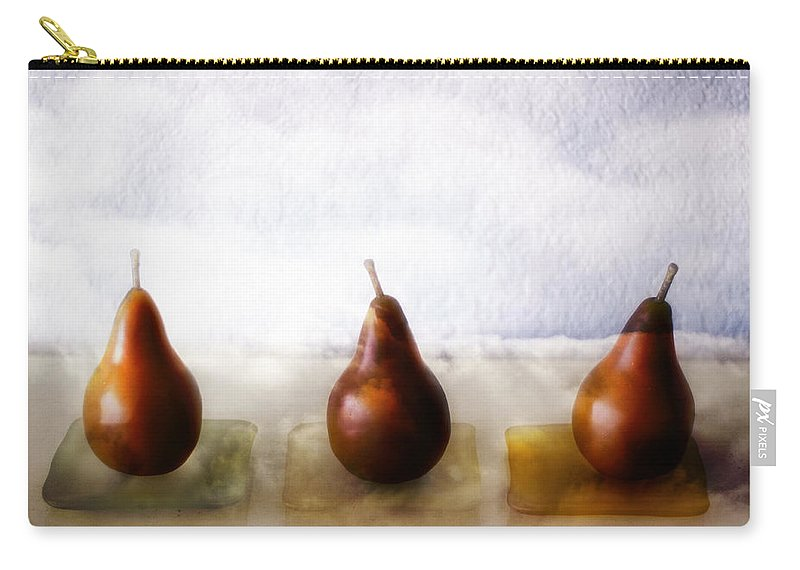 Pear Carry-all Pouch featuring the photograph Pears In The Clouds by Carol Leigh