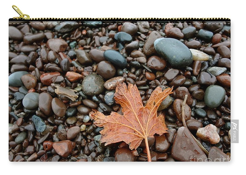 North Shore Carry-all Pouch featuring the photograph Pebbles by Jacqueline Athmann