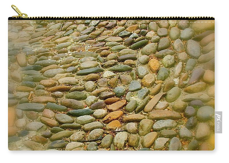Stones Carry-all Pouch featuring the photograph Pebbles by Rick Monyahan