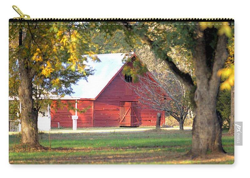 3286 Carry-all Pouch featuring the photograph Pecan Orchard Barn by Gordon Elwell