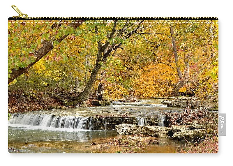 Waterfall Carry-all Pouch featuring the photograph Pedelo Falls by Deena Stoddard