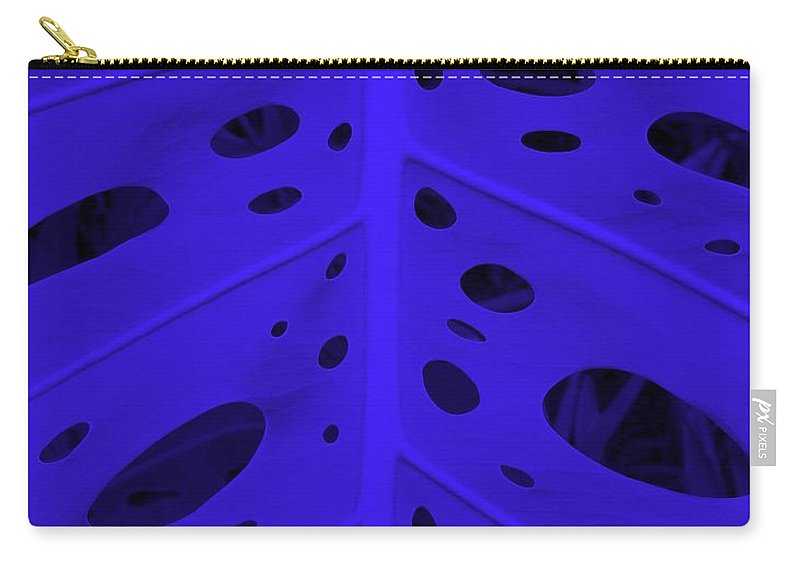 Leaf Carry-all Pouch featuring the photograph Peek-a-boo Leaf In Purple by Mary Deal