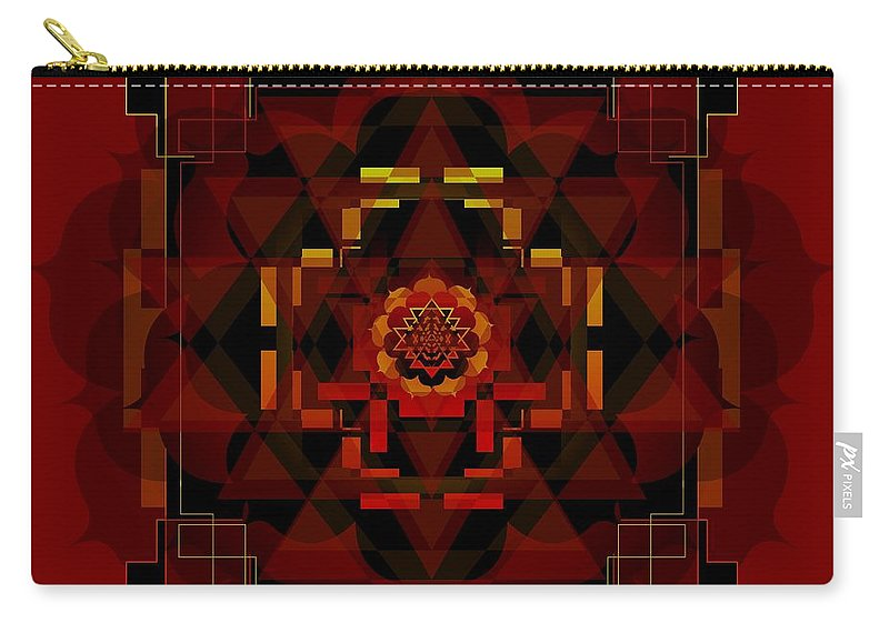 Digital Carry-all Pouch featuring the digital art Pele Goddess Of Fire 2013 by Kathryn Strick