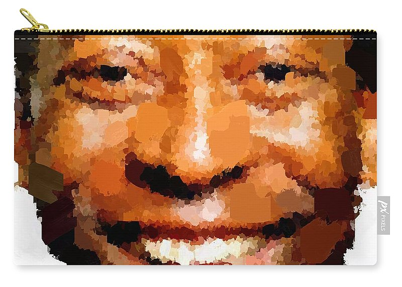 Pele Carry-all Pouch featuring the painting Pele Portrait by Samuel Majcen