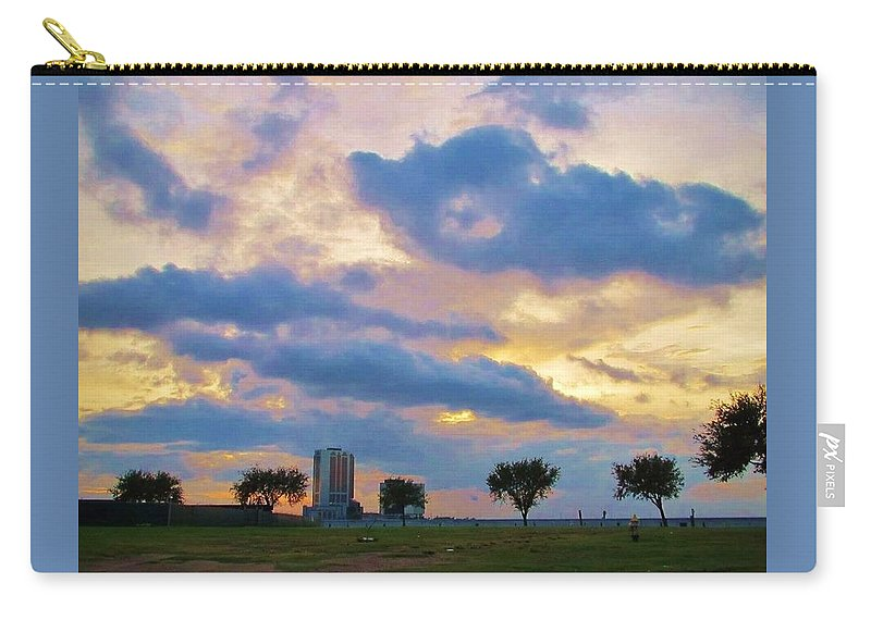 Clouds Carry-all Pouch featuring the photograph Lakeway Pelican Cloud by Deborah Lacoste