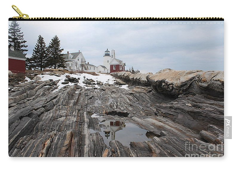 Lighthouse Carry-all Pouch featuring the photograph Pemaquid 8256 by Joseph Marquis