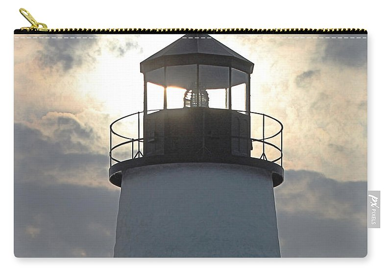 Lighthouse Carry-all Pouch featuring the photograph Pemaquid Lighthouse - The Tower by Joseph Marquis