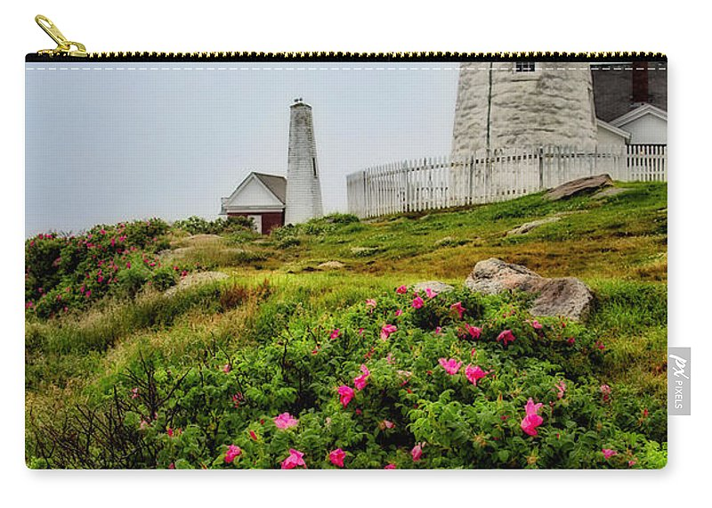 Lighthouse Carry-all Pouch featuring the photograph Pemaquid Point by Karol Livote