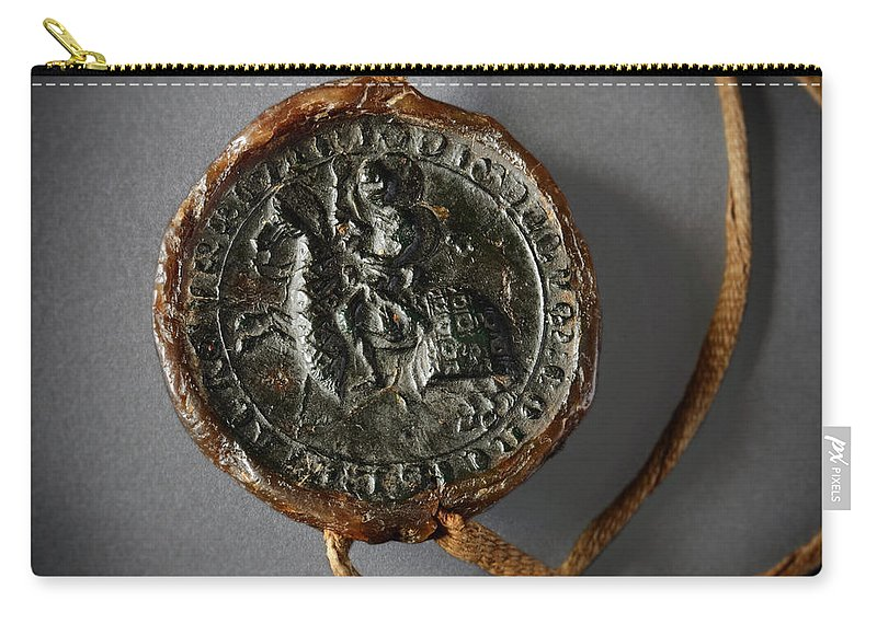 Pendent Wax Seal Carry-all Pouch featuring the photograph Pendent Wax Seal Of The Council Of Calahorra by RicardMN Photography