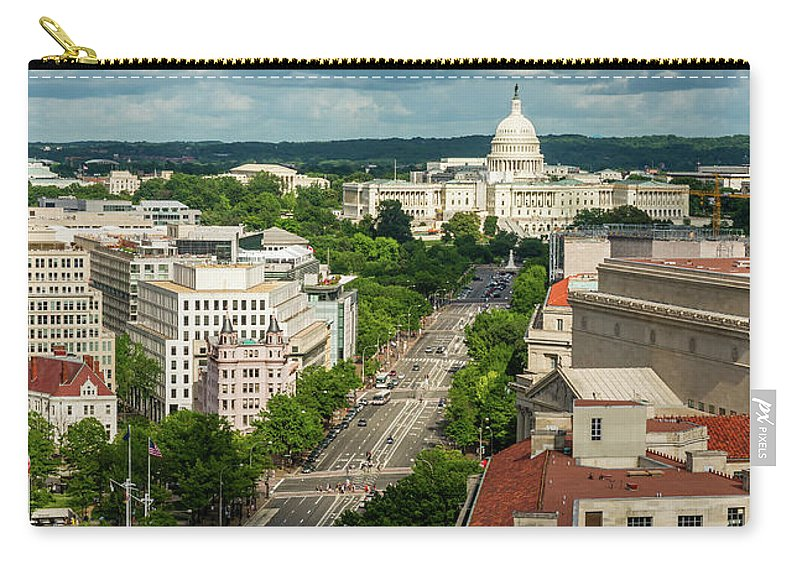 Built Structure Carry-all Pouch featuring the photograph Pennsylvania Avenue Leading Up To The by Miralex