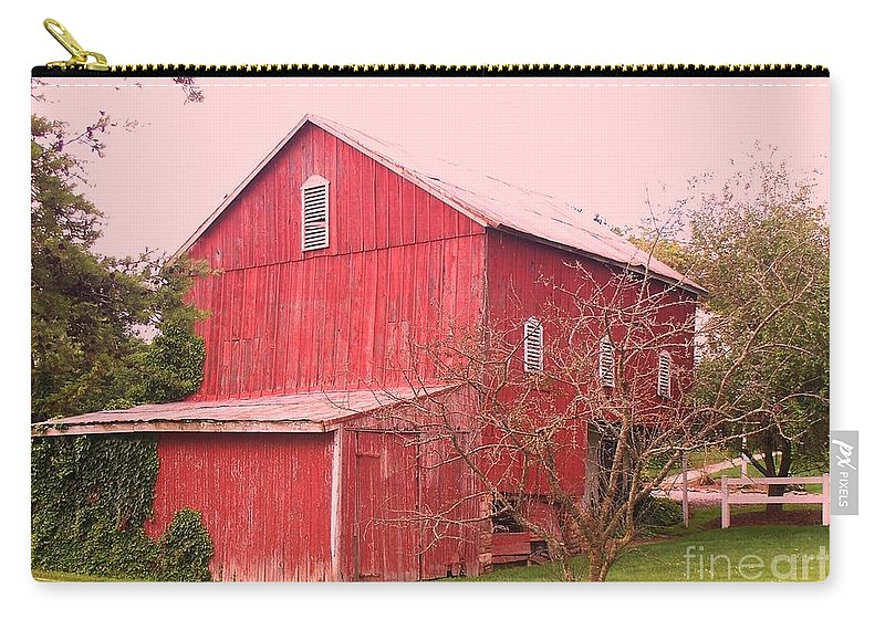 Pennsylvania Carry-all Pouch featuring the photograph Pennsylvania Barn Cira 1700 by Eric Schiabor