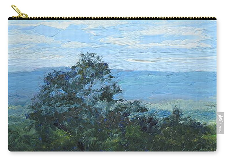 Landscape Carry-all Pouch featuring the painting Pennsylvania Hills by Lea Novak