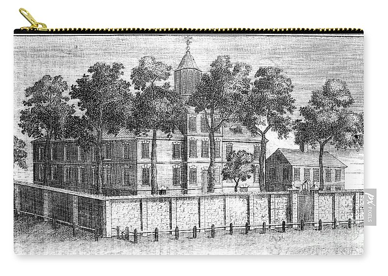 18th Century Carry-all Pouch featuring the photograph Pennsylvania Hospital by Granger
