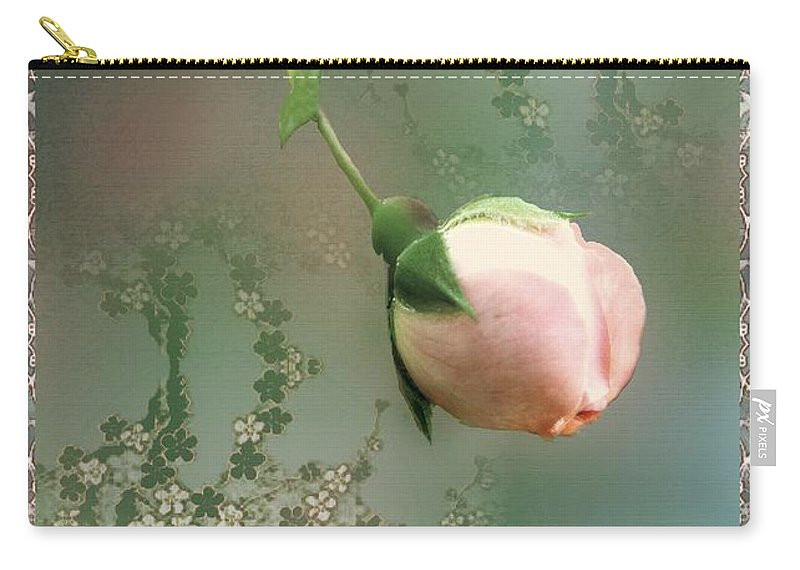 Rose Carry-all Pouch featuring the painting Penny Postcard Chinoiserie by RC deWinter