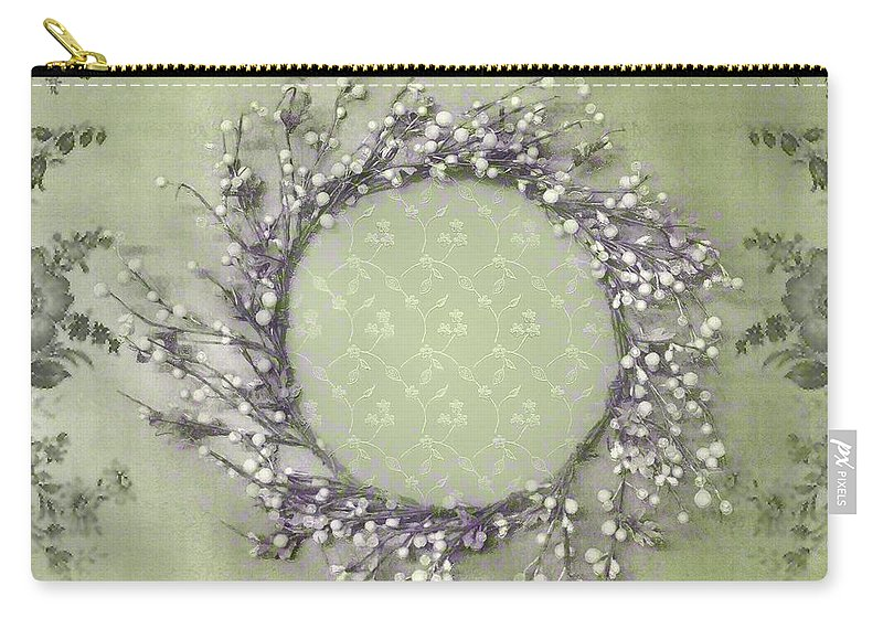Vintage Carry-all Pouch featuring the painting Penny Postcard Condolence by RC DeWinter