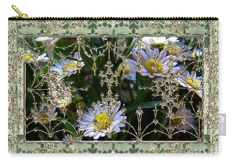 Daisies Carry-all Pouch featuring the painting Penny Postcard Rococo by RC DeWinter