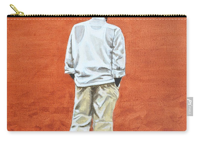 Pensive Carry-all Pouch featuring the painting Pensive by Usha Shantharam