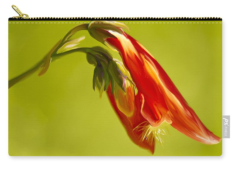 Penstemon Carry-all Pouch featuring the painting Penstemon by Angela Stanton