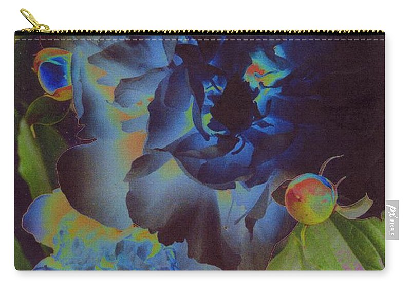 Peony Carry-all Pouch featuring the digital art Peony 1 by First Star Art