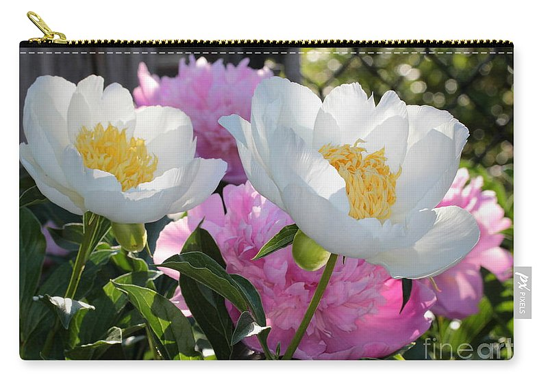 Peony Carry-all Pouch featuring the photograph Peony Garden by Kenny Glotfelty