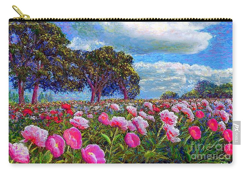 Sun Carry-all Pouch featuring the painting Peony Heaven by Jane Small